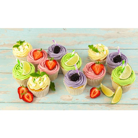 12 GIN COCKTAIL CUPCAKES