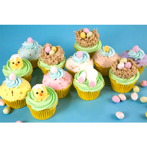 12 EASTER CUPCAKES