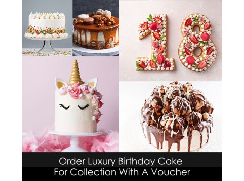 Luxury Birthday Cake Voucher