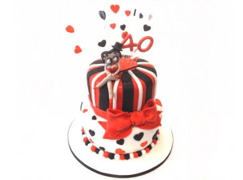 Marvelous Betty Boop By 3D Cakes Personalised Birthday Cards Veneteletsinfo