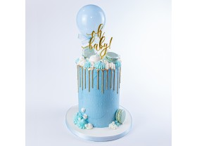 BABY BOY DRIP CAKE