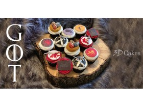 12 GAME OF THRONES CUPCAKES