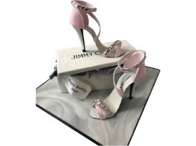 JIMMY CHOO STYLE DIAMANTE HEELS & BOX